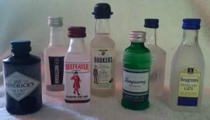A few 50ml gin samples for World Gin Day fun